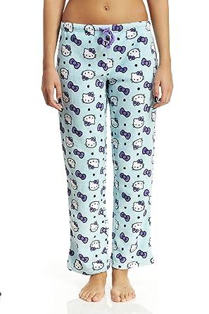 e15993c71 Hello Kitty in Purple Bows Fleece Lounge Pants for Women - Green ...