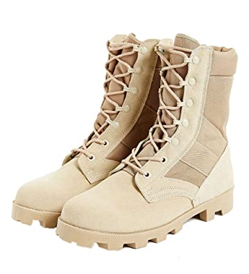 ce47af13a7a ANS Military Style Jungle Boots Desert Tan Speedlace Jungle Boot Size 10R