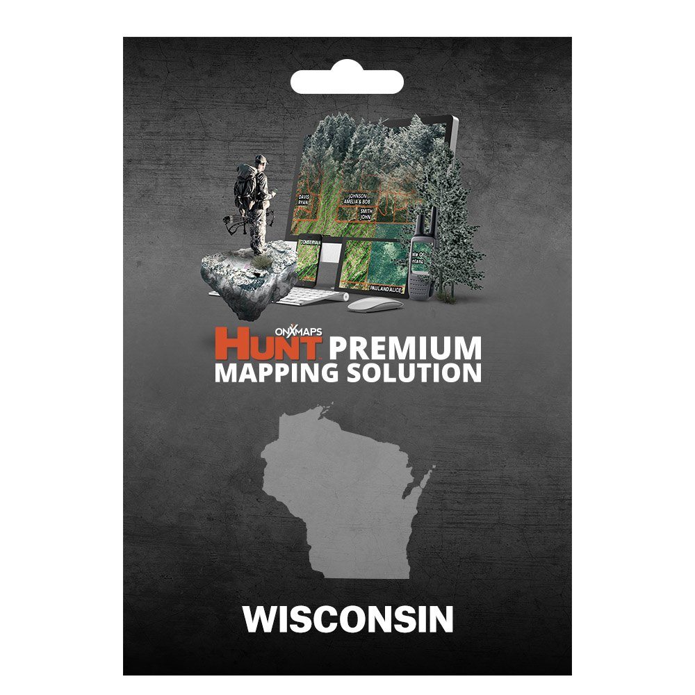 onXmaps HUNT Wisconsin: Digital Hunting Map For Garmin GPS + Premium Membership For Smartphone and Computer - Color Coded Land Ownership - 24k Topo - Hunting Specific Data