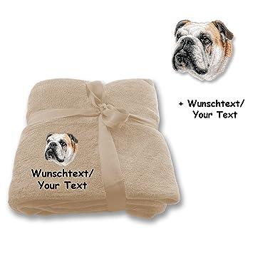 Desconocido Manta M2 + Texto a elegir de bulldog inglés: Amazon.es: Productos para mascotas