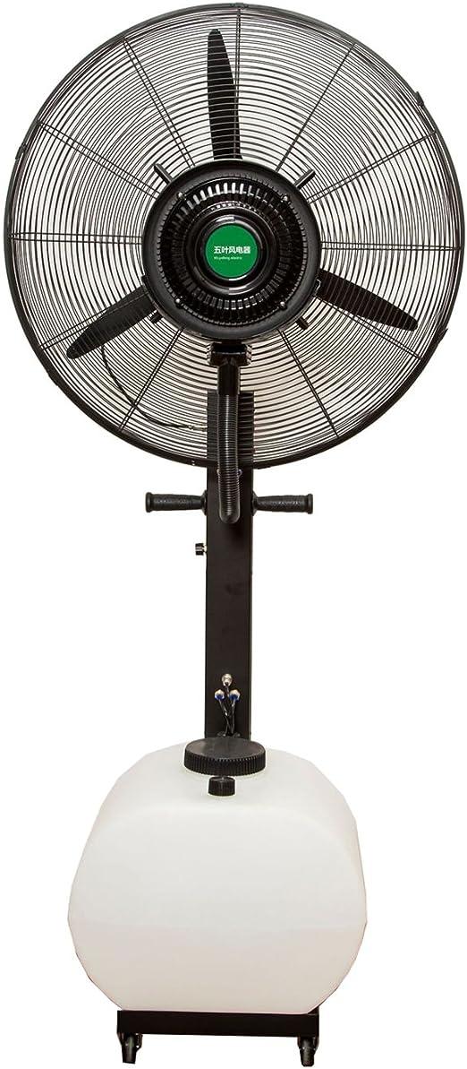 Fan Fan Ventilador Industrial de enfriamiento de Niebla de Agua al Aire Libre más Agua más humidificación de Hielo Ventilador de atomización Ventilador de Piso de Gran Alcance: Amazon.es: Hogar