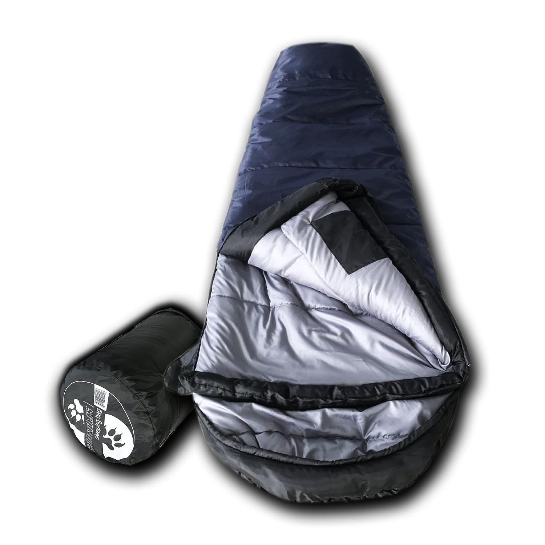 WolfTraders KidMummy 20 Degree Premium Lightweight Youth Mummy Sleeping Bag with Xfil