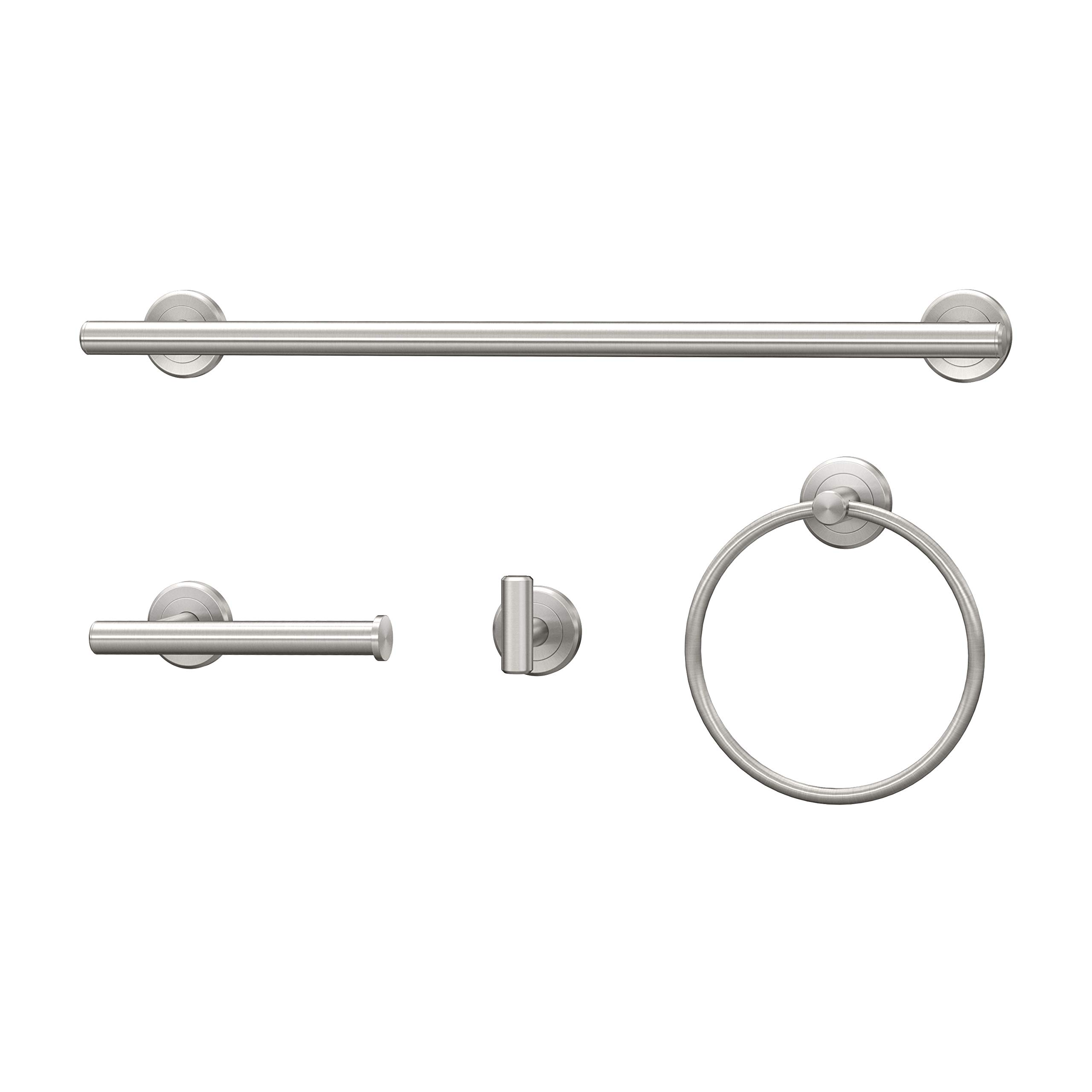Gatco Latitude II 4-Piece Set, Satin Nickel