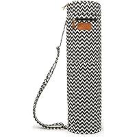 Yoga-Matte mit durchgehendem Reißverschluss von Elenture, Tragetasche mit Multifunktions-Aufbewahrungstaschen