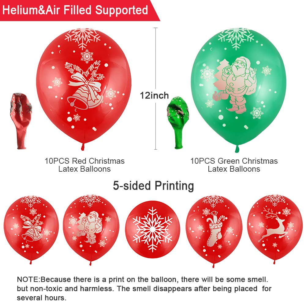 Merry Christmas Balloons Decorations Kit,Christmas Balloons Mylar (Santa  Claus/Christmas Tree/Snowman) Merry Christmas Banner Garland for Winter