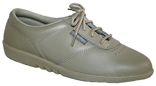 Zapatos de cordones para señora, piel suave de excelente calidad, se pueden lavar en la lavadora, 4 colores, color blanco, talla 39.5