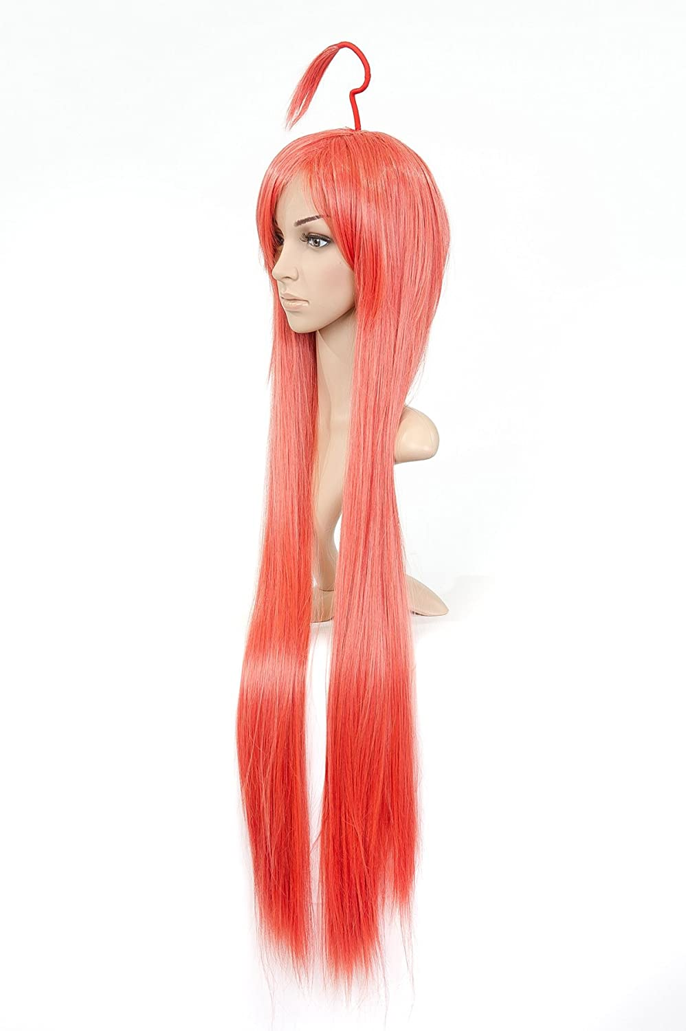 Gladiola Orange rouge Long longueur Anime Costume Wig