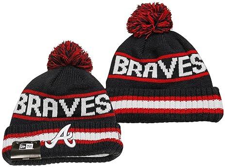 57a73e0bbb3 ... discount atlanta braves new era vintage select pom knit beanie hat cap  36061 99406