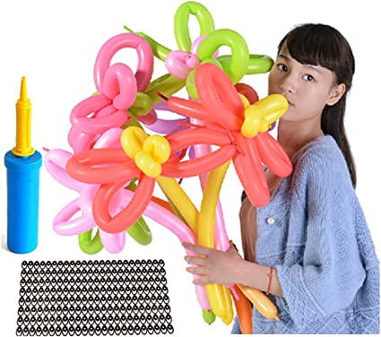 Modelling Multicolored Balloon Kit 30 Pack Includes Pump Great For Parties