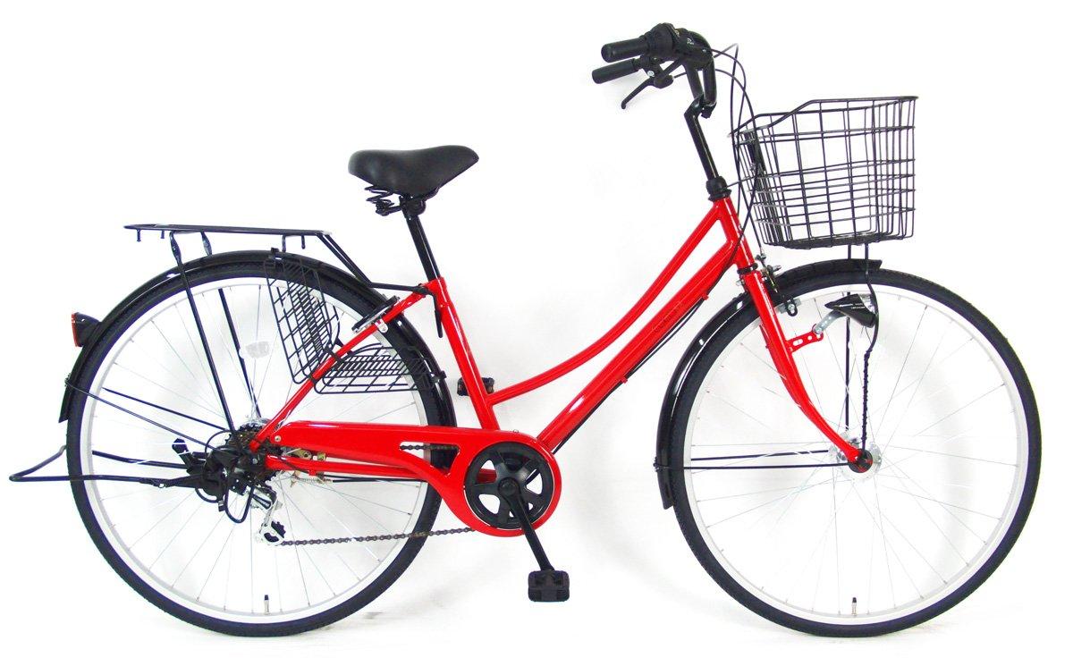 定番 C.Dream(シードリーム) ココWオートライト CW76-H 27インチ自転車 シティサイクル レッド レッド CW76-H 6段変速 100%組立済み発送 6段変速 B078YN5QXT, ナガトシ:a0bd6b8e --- greaterbayx.co