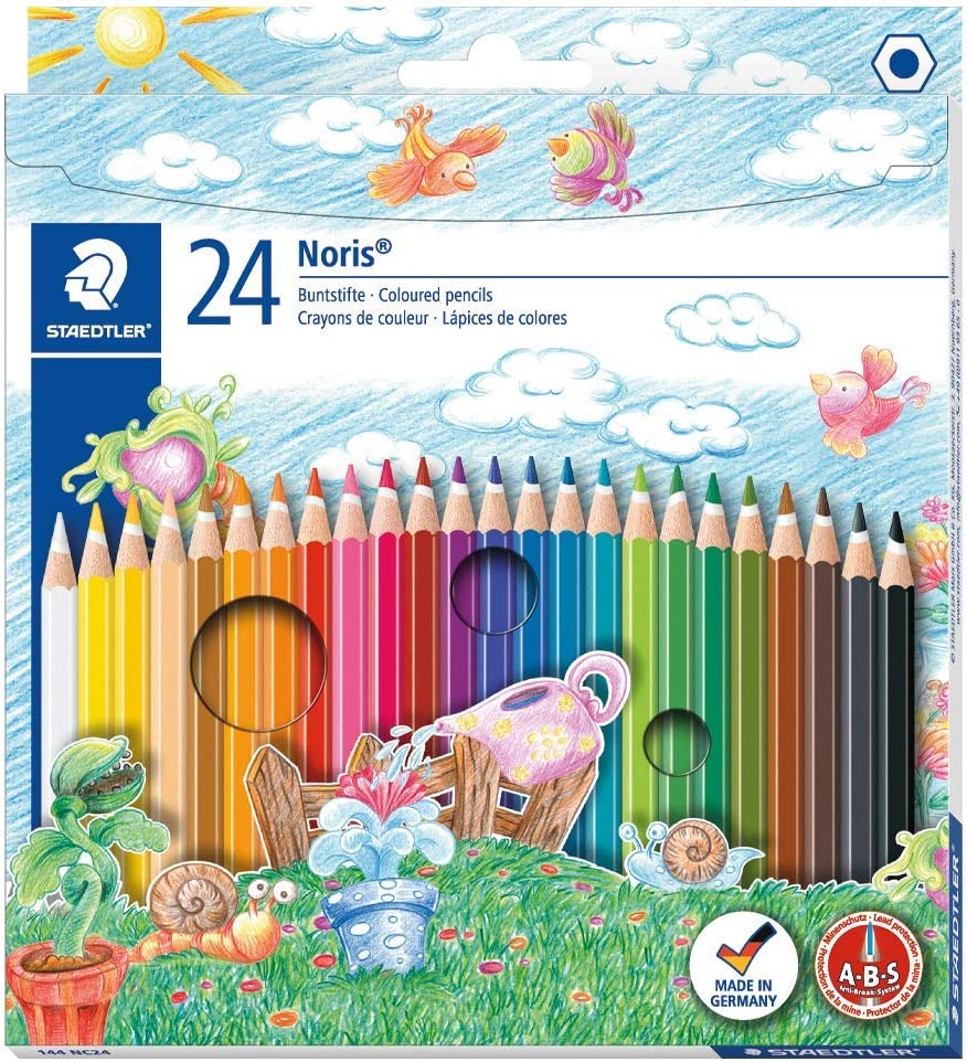 Staedtler Noris Club - Pack de 24 lápices de colores, Multicolor