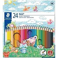 Staedtler Noris Club 144 NC24 kleurpotloden, verhoogde breukvastheid, zeskant, set met 24 briljante kleuren…