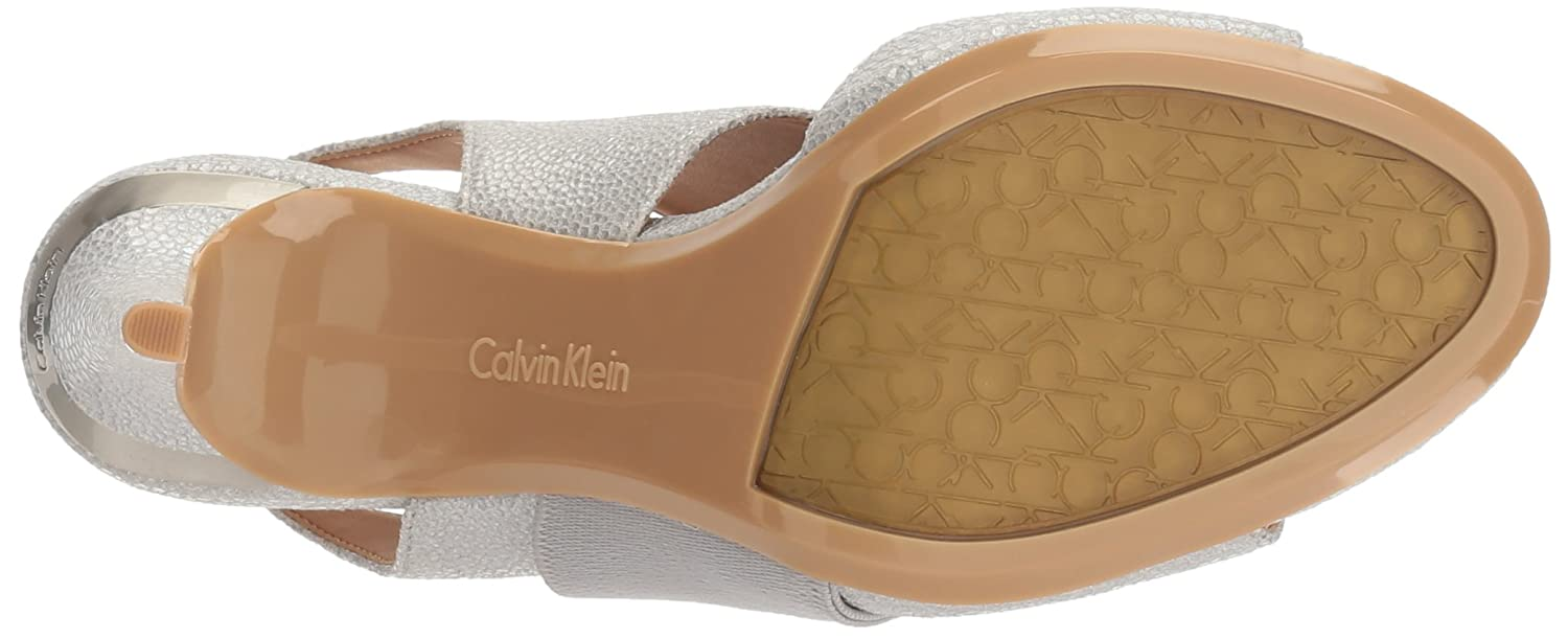 Calvin Klein Women's Navea Dress Sandal B01L8RNKRI 7 B(M) US|Vesper Grey