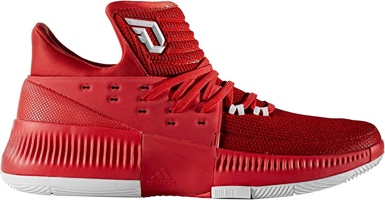 adidas Dame 3 Power - Zapatillas de baloncesto para hombre, color rojo y gris