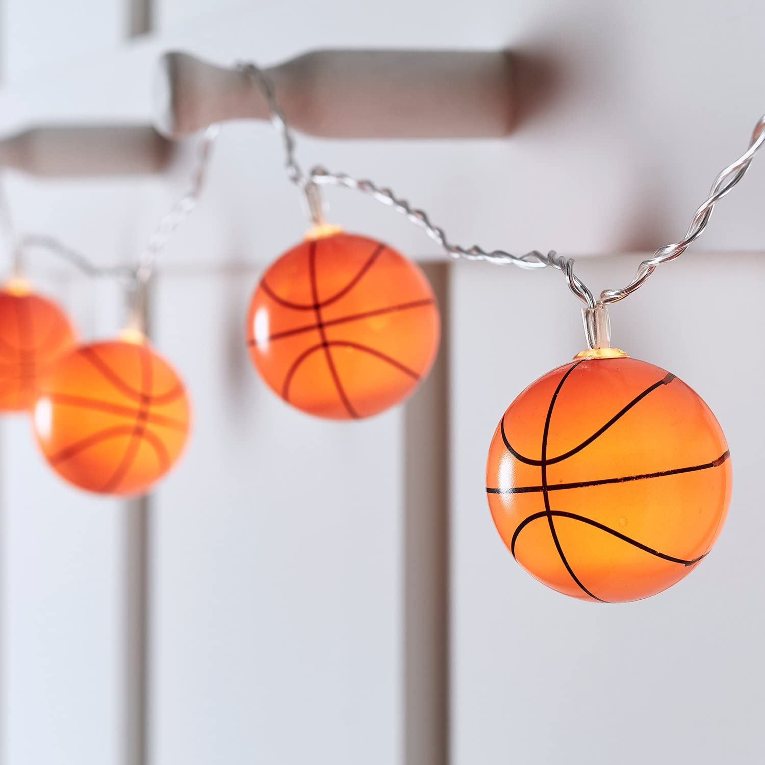10 Basketball Battery Operated Indoor LED Fairy String Lights