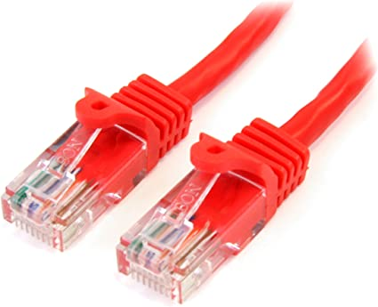 50 Pack 2ft Cat5e Cable Ethernet Lan Network RJ45 Patch Cord Internet Red