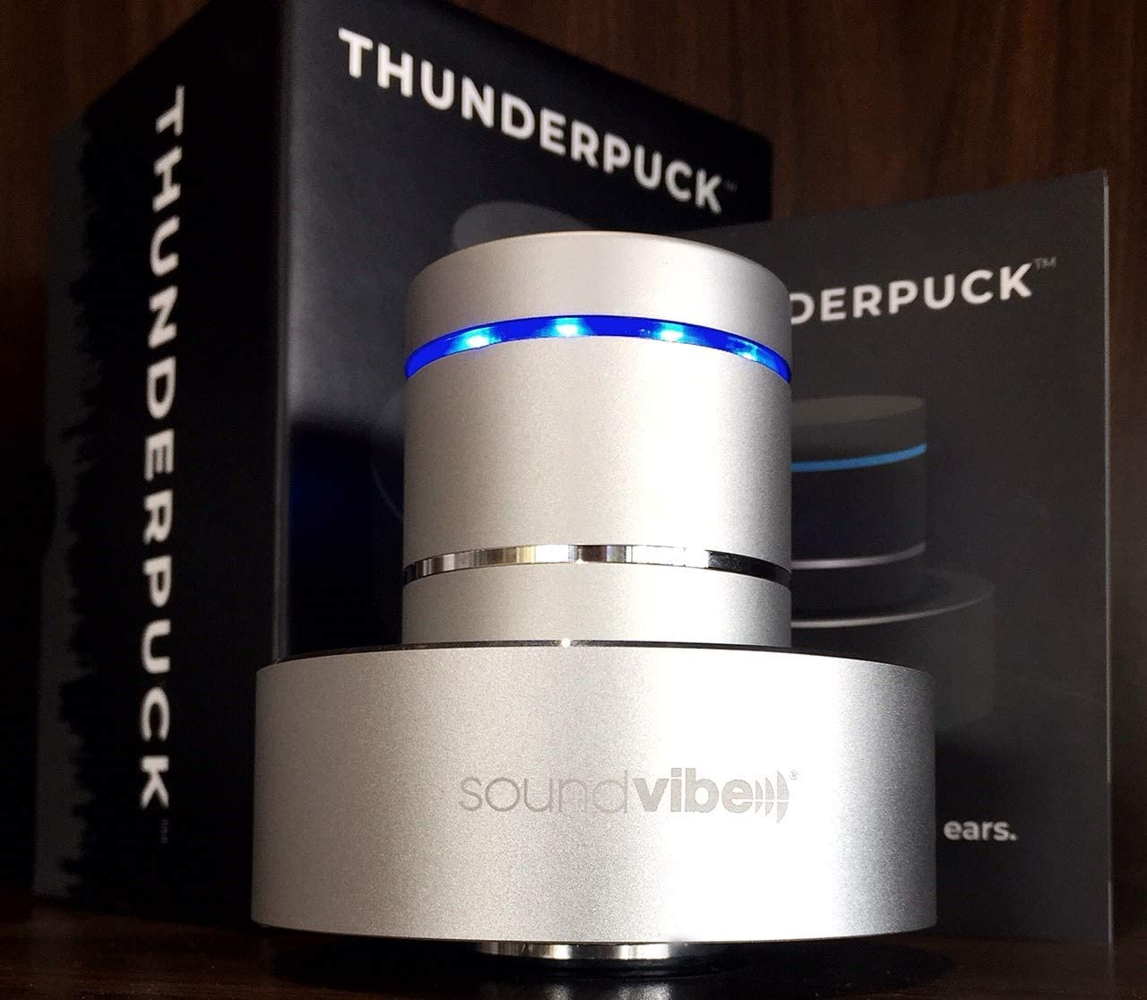 Thunderpuck Portable Bluetooth Mini 26W 360 Degree Sound with Subwoofer and Microphone for Hands-Free Calling Virtually Indestructible Rechargeable with 8 Hrs of Playback Line in//Line Out Feature