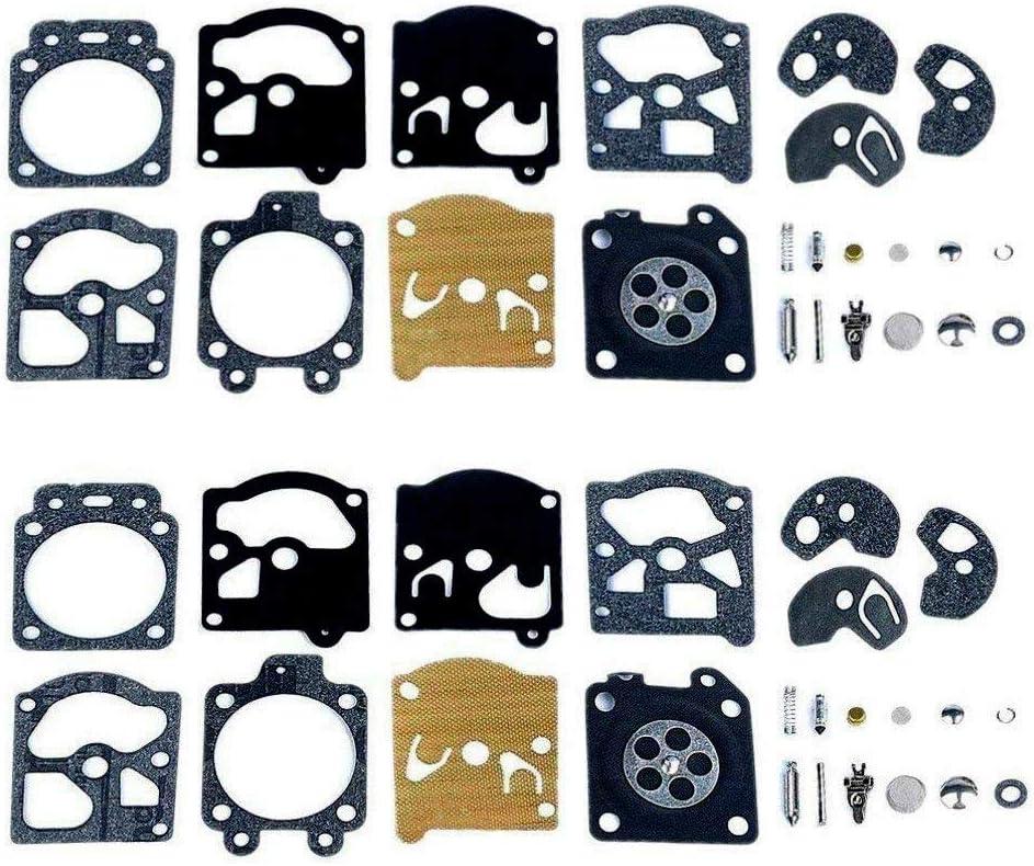 Poweka Kit de Reparación del Carburador Junta Membrana para Walbro K10-WAT WA & WT Series Stihl Husqvarna Poulan McCulloch Echo (2 Juegos)