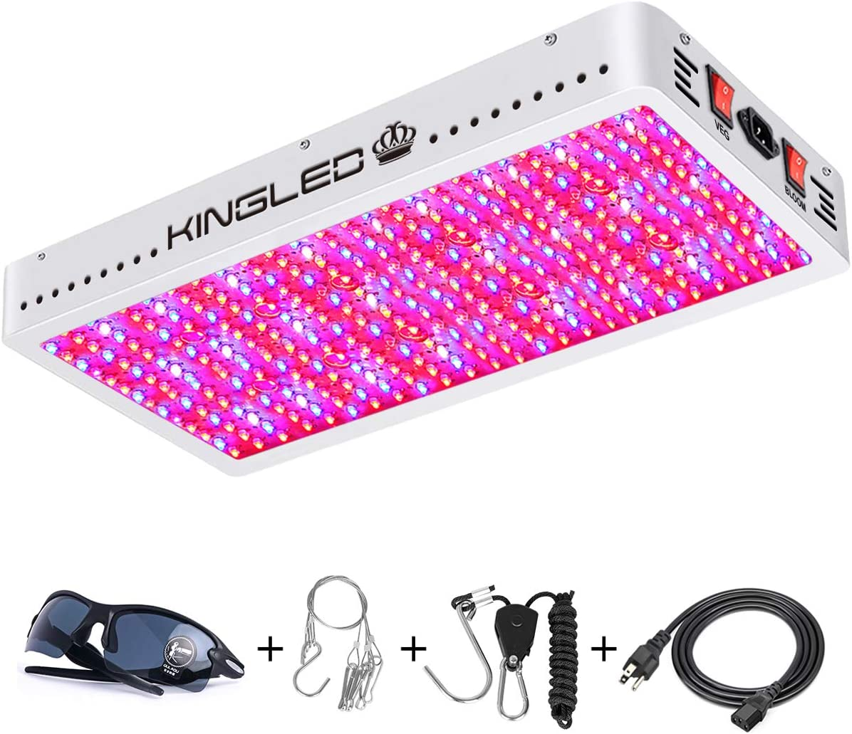 King Plus 4000W Double Chips LED Grow Light Full Spectrum for Greenhouse and Indoor Plant Flowering Growing 390pcs 10w LEDs