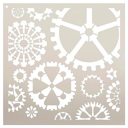 amazon com gears stencil by studior12 reusable mylar template
