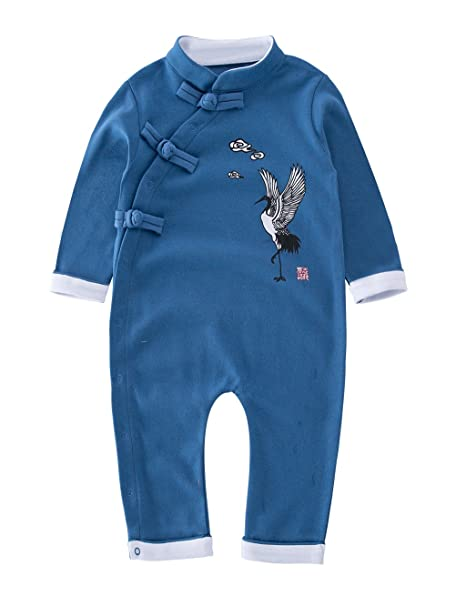 10d8c0712055 XM Nyan May s Baby Toddler Chinese traditional dish buckle design Romper  Onesie Outfit