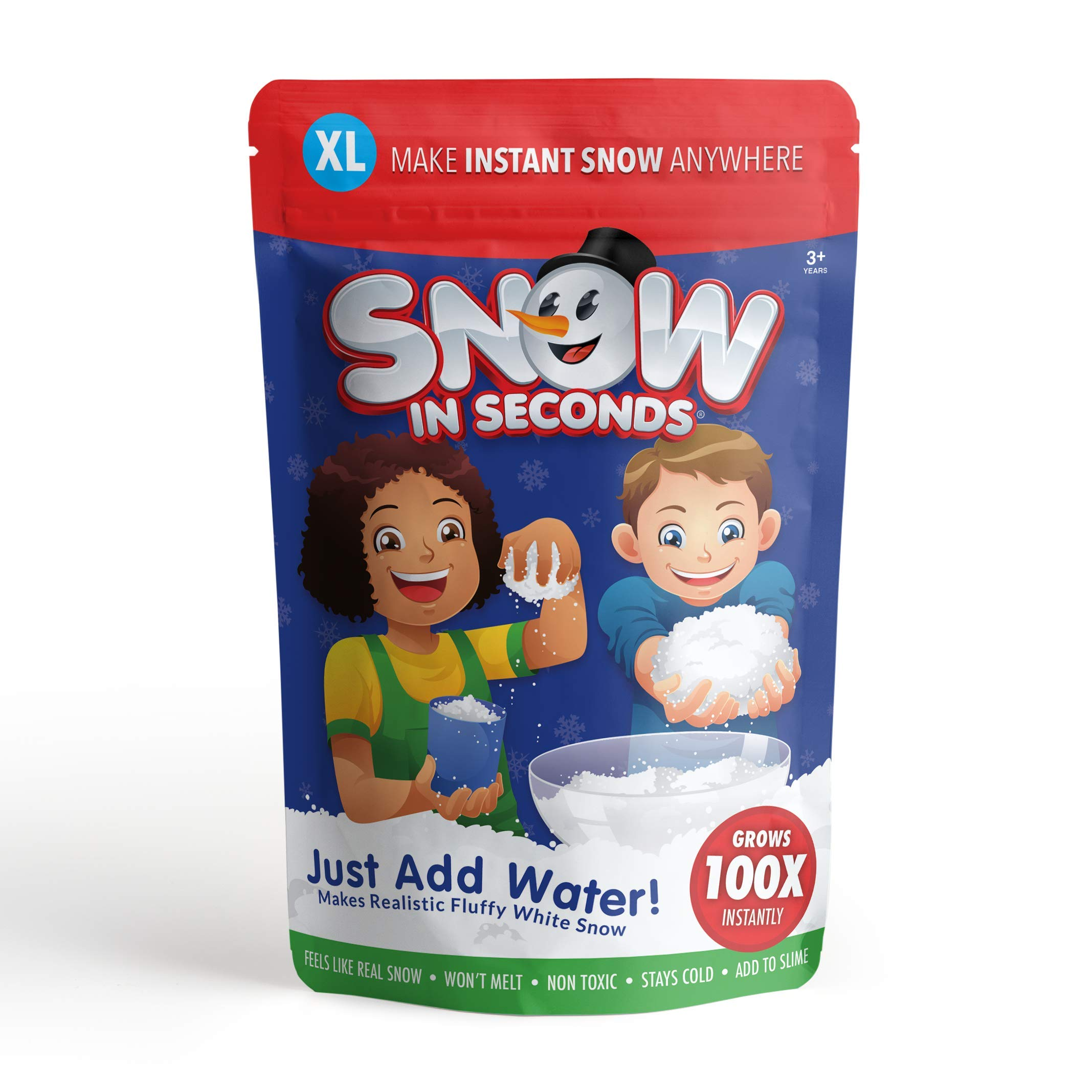 Snow in Seconds Instant Fake Snow XL Bag (Makes 10 gallons)