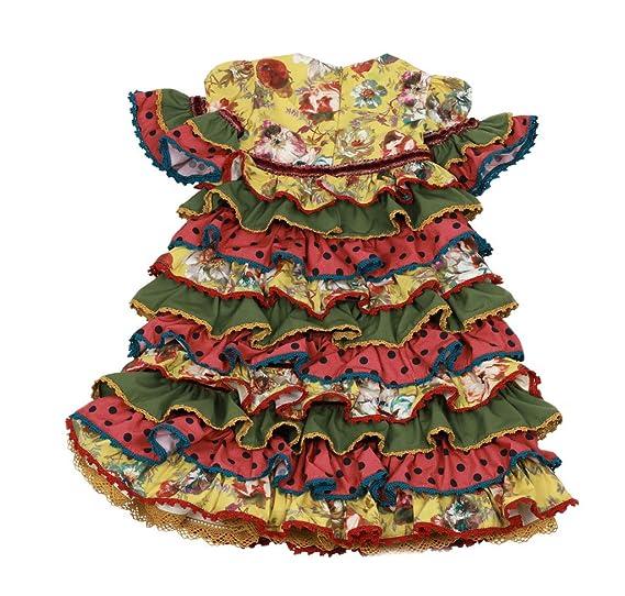 Vestido Traje Flamenca niña bebé (Desde 12 Meses hasta 24 ...