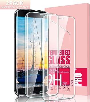 Youer Protector de Pantalla Galaxy S7 Edge, [2 Unidades] 3D Full ...