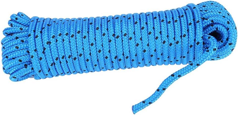 Delaman/® Safety Climbing Rope Outdoor High Strength Polypropylene Fiber Mountain Carabiner Color : Blue