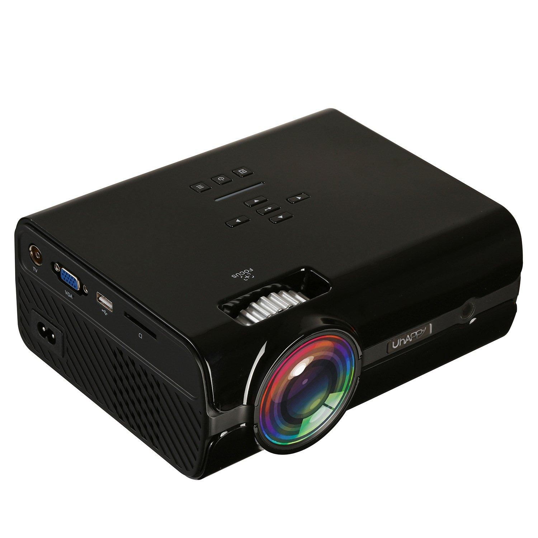 プロジェクタースクリーンビデオ視聴プロジェクションバイオスコープランププロジェクター使用法ホームシアターミニLCDシアターカンパニーオフィス ( Color : Black ) B078N1N3SG