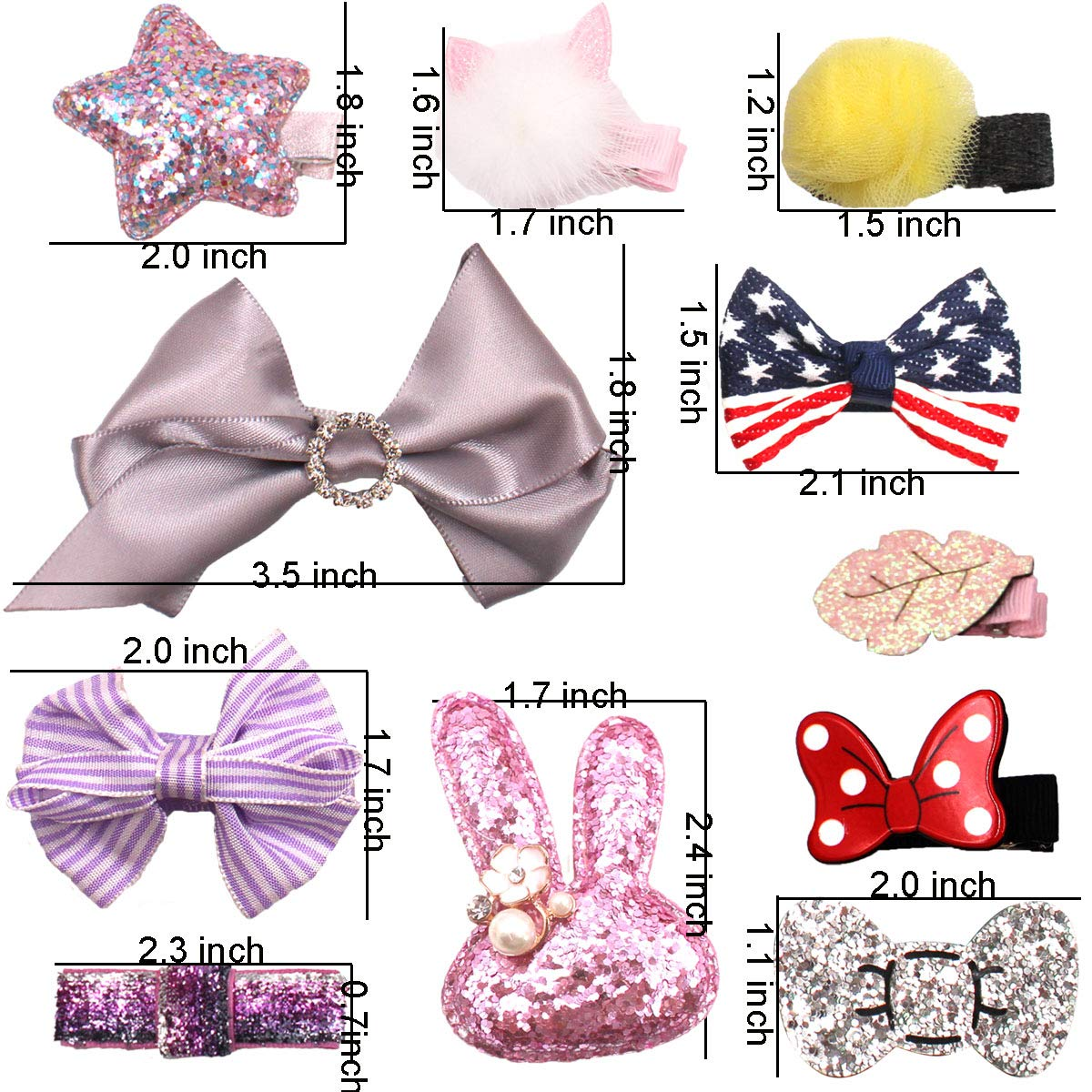 6 Inch Girl Baby Lovely Boutique Hair Accessory Knot Hair Bow Clip Alligato I7L8