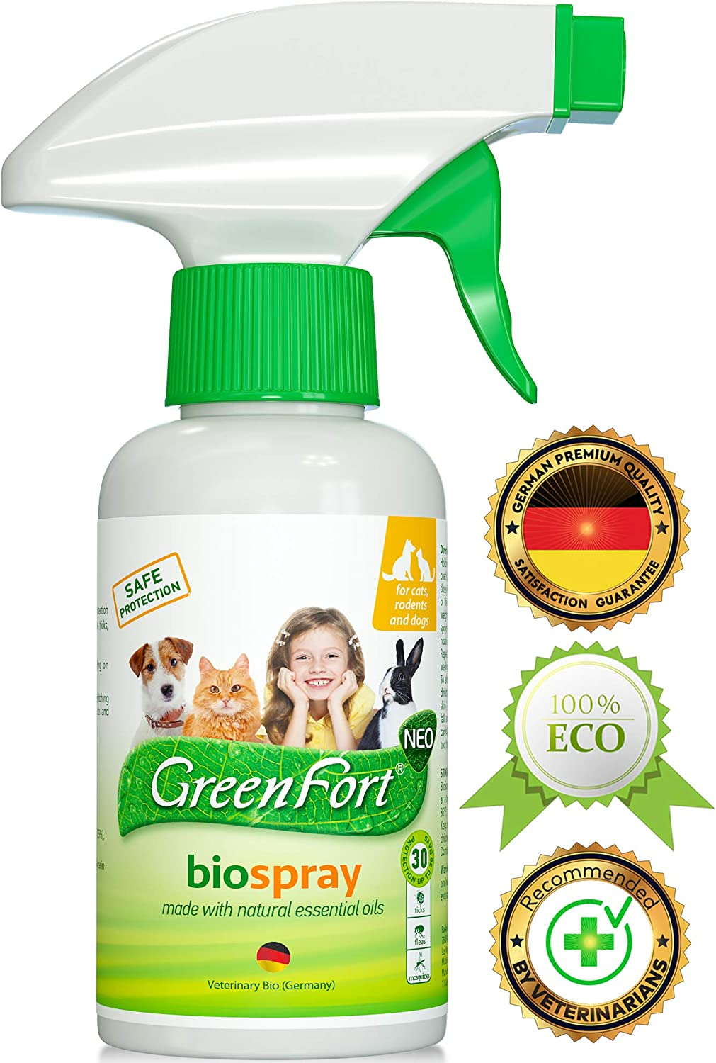 All Natural Flea Tick Home Spray for Dogs and Cats - Gentle Repellent and Safe Control - Recommended Flea Prevention for Pets