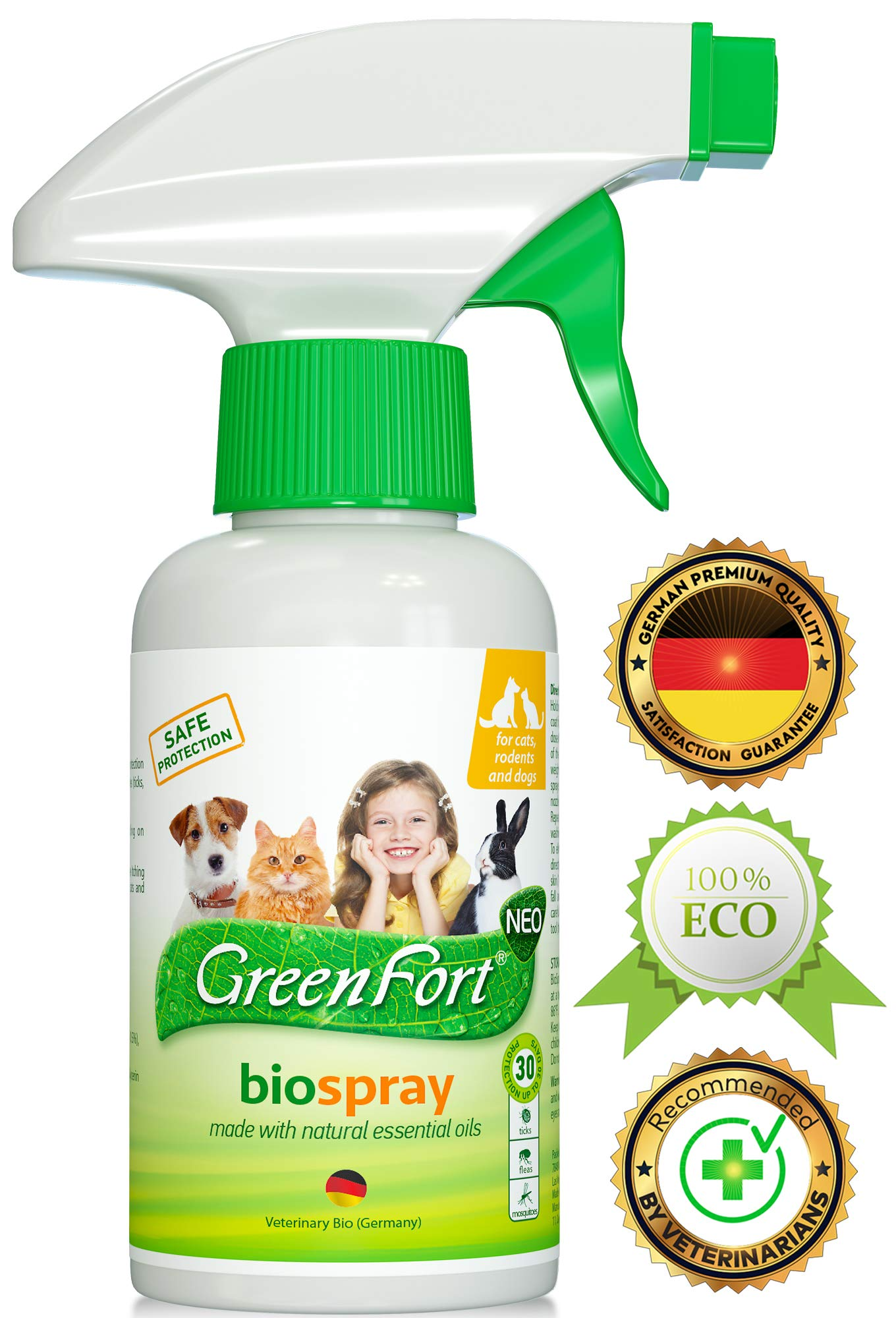 All Natural Flea Tick Home Spray for Dogs and Cats - Gentle Repellent and Safe Control - Recommended Flea Prevention for Pets by Beloved Pets