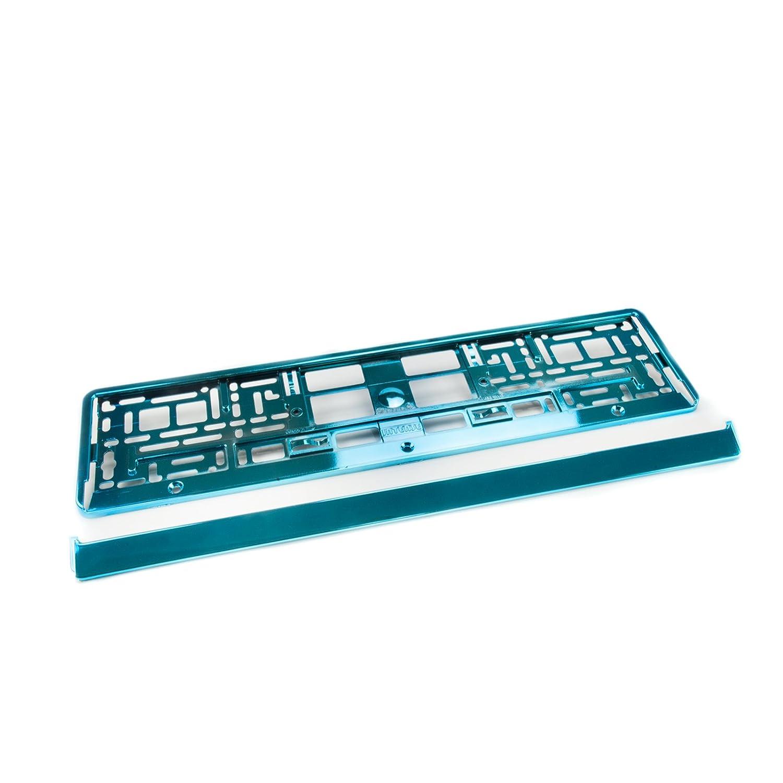 2 x Kennzeichenhalter Nummernschildhalter Kennzeichenhalterung Farbe:/Chromglanz