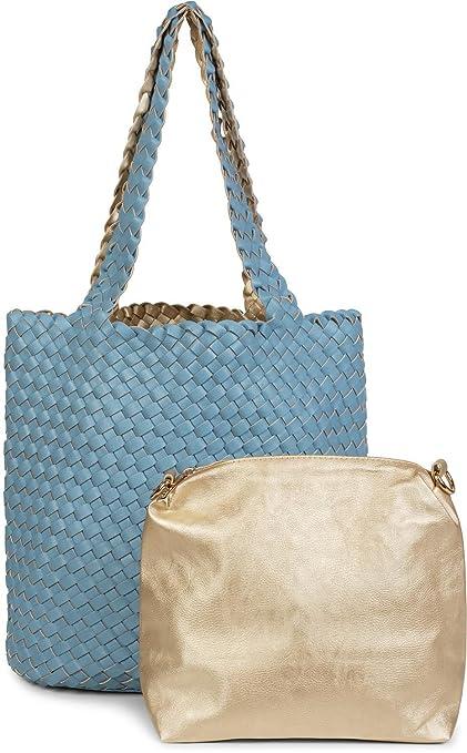 eb79851898 styleBREAKER Sac réversible avec effet tressé, cabas, ensemble de 2 sacs à  main,