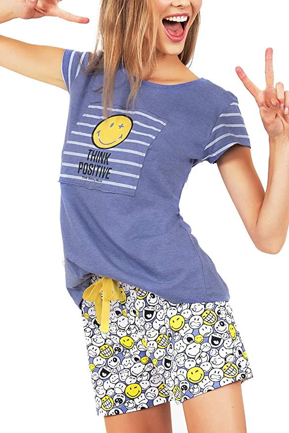 Smiley Pijama Manga Corta Mujer World