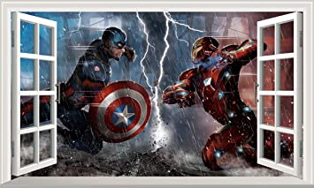 Chicbanners Marvel Avengers Superhero Captain America Ironman V606