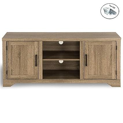 wholesale dealer e8d98 49e32 Amazon.com: Rustic TV Stand Entertainment Center Farmhouse ...