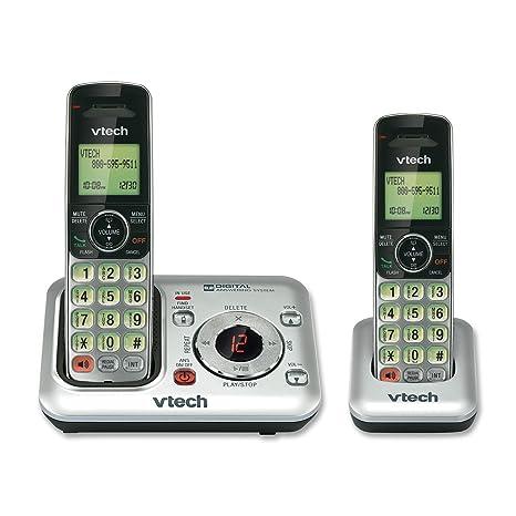 amazon com vtech cs6429 2 2 handset dect 6 0 cordless phone with rh amazon com vtech cs6429-4 owners manual VTech CS6619