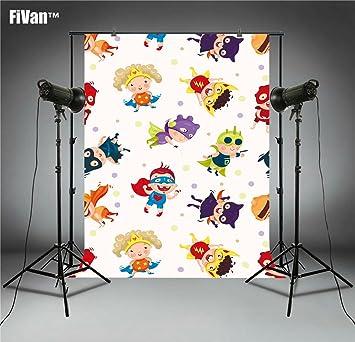 FiVan Cartoon Fotografía Fondo Foto Fondo para recién nacido ...