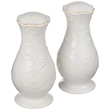 Lenox French Perle White Tall Salt and Pepper Set