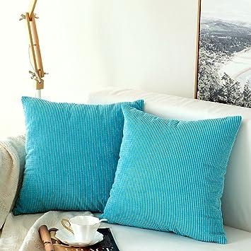 MIULEE Lot de 2 Housse De Coussin Polyester Grains Maïs Carré Taie  d\'oreiller Moderne Scandinave Décoratif de la Maison Chambre Voiture Lit  Canapé ...