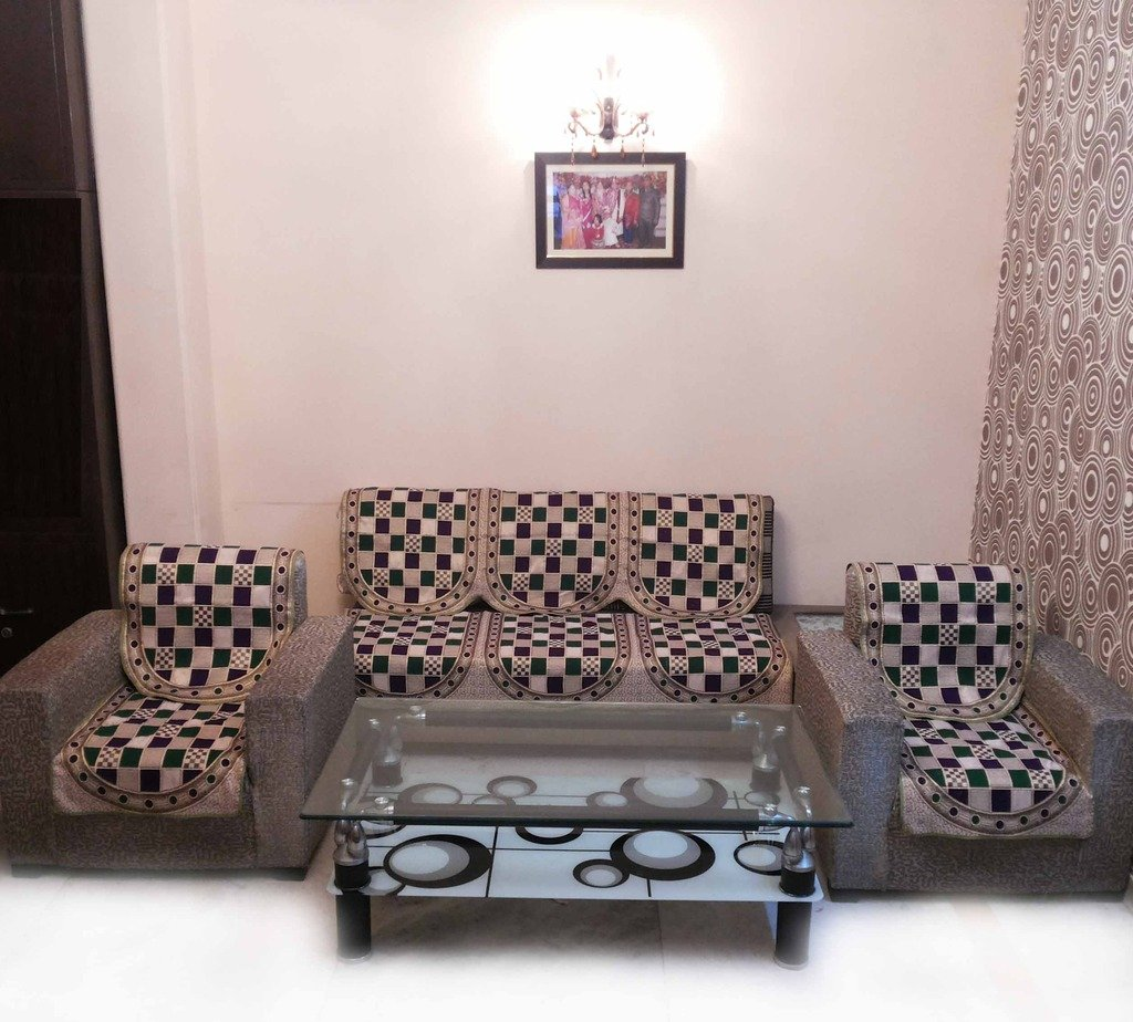 Buy GOLD CHECK GREEN SOFA COVER SET Online at Low Prices in India