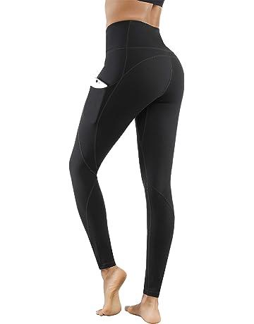 18d2a8525 Lingswallow High Waist Yoga Pants - Yoga Pants with Pockets Tummy Control,  4 Ways Stretch