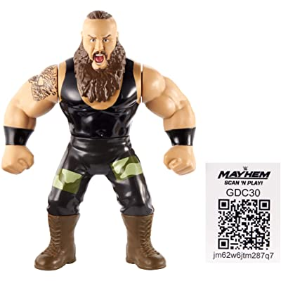 WWE Braun Strowman Retro App Action Figure: Toys & Games