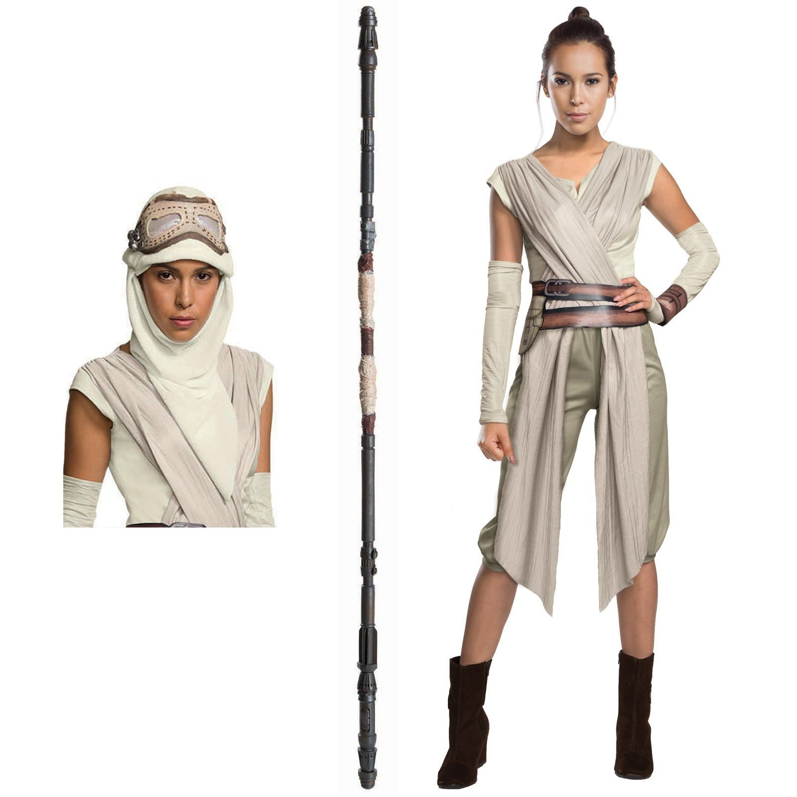 Star Wars: The Force Awakens Rey Deluxe Adult Costume Kit Large Multi-Colored 2