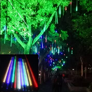 Amazon.com : STARSHINE 30cm 10 Tube 300 LEDs Meteor Shower Rain ...