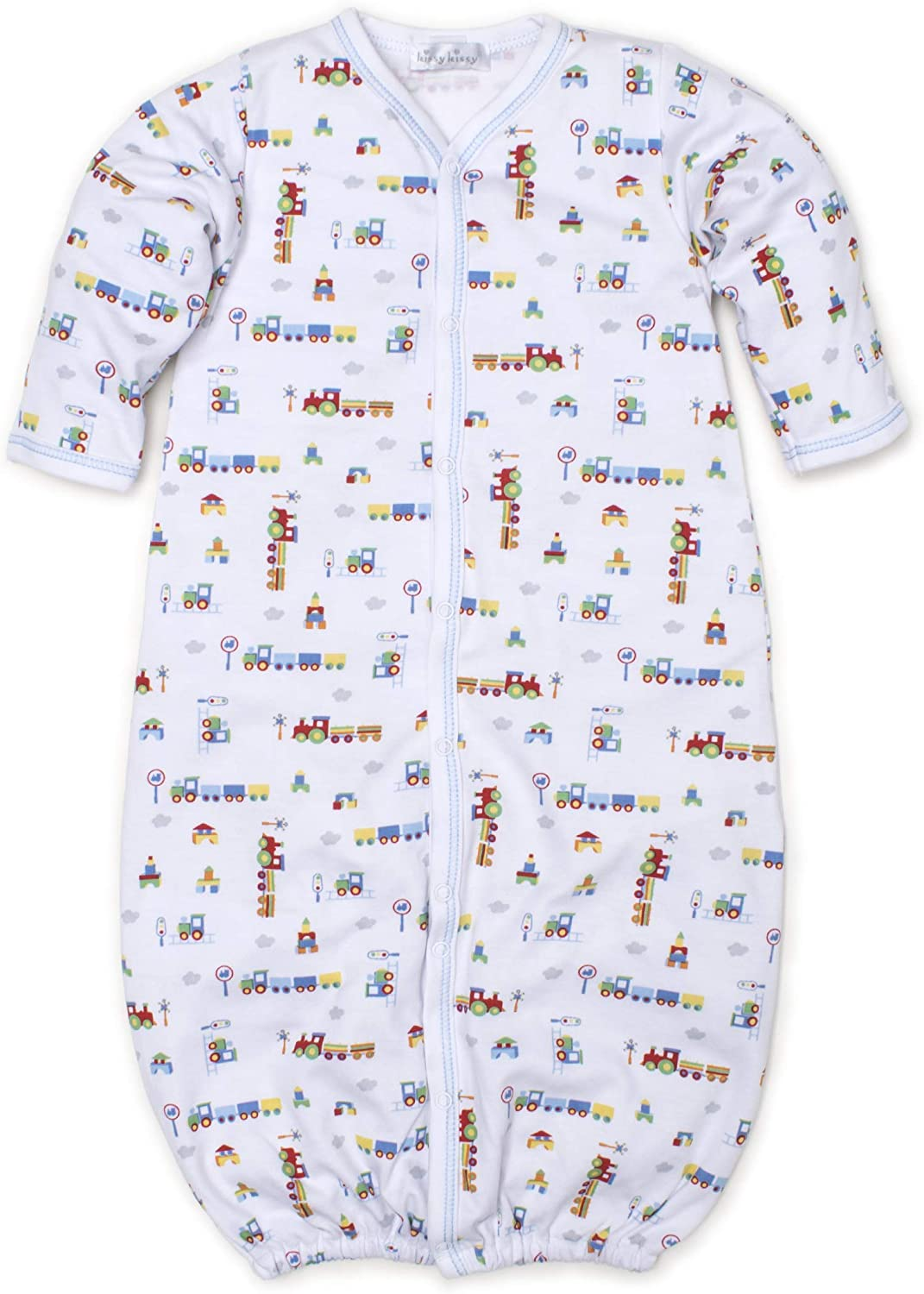 Kissy Kissy Baby-Boys Infant All Aboard Print Convertible Gown
