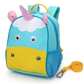 Yodo - Figura decorativa de niños mascota aislado caja de almuerzo bolsa y mochila preescolar infantil, con arnés de seguridad correa, para niños y niñas, ...