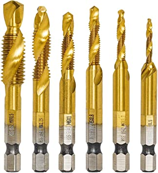 6Pcs HSS Tap Higher Hardness Hand Tool Thread Tap Tool,